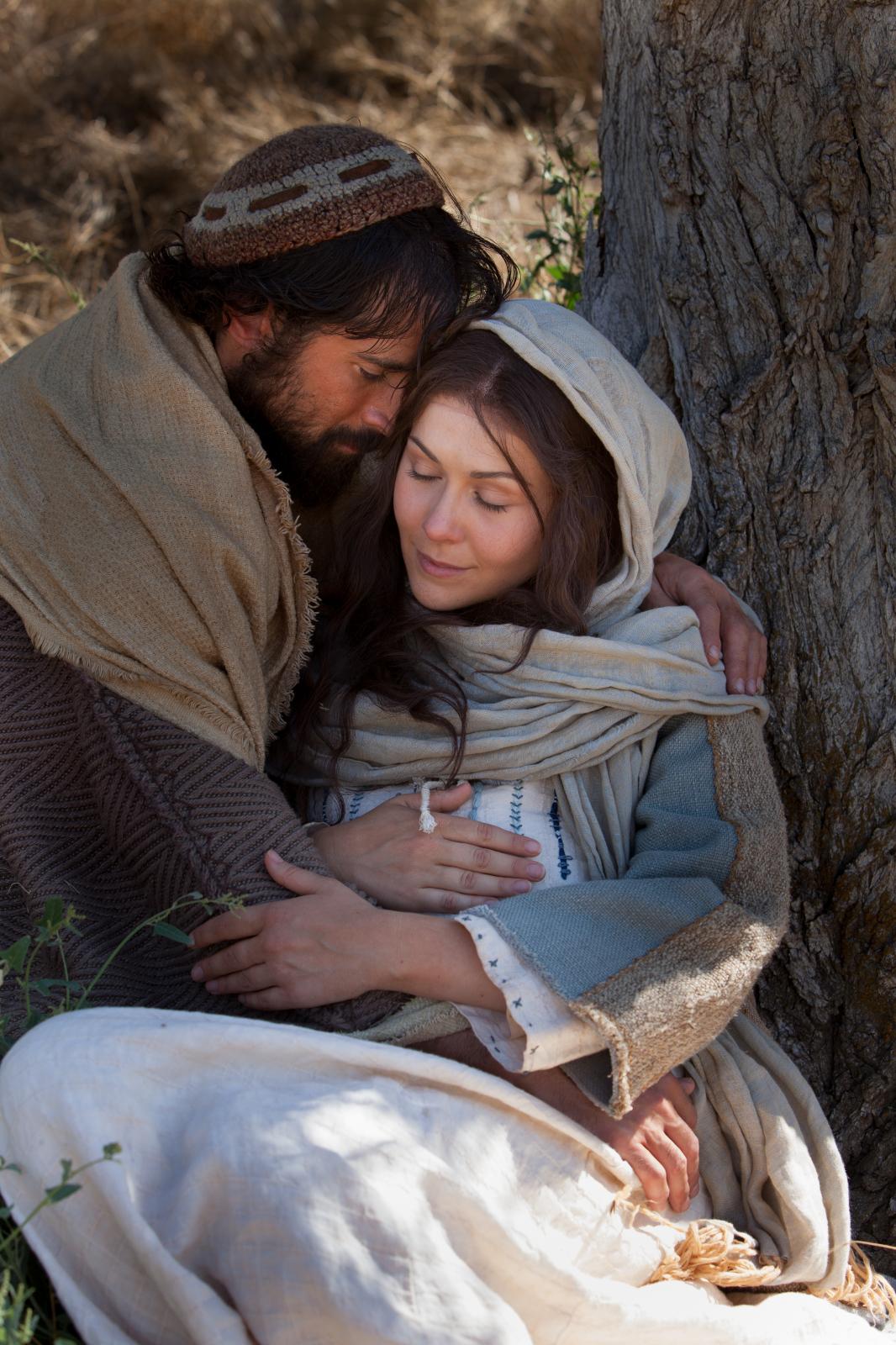 jesus mary and joseph nativity baby jesus mary and joseph vntg empire ...