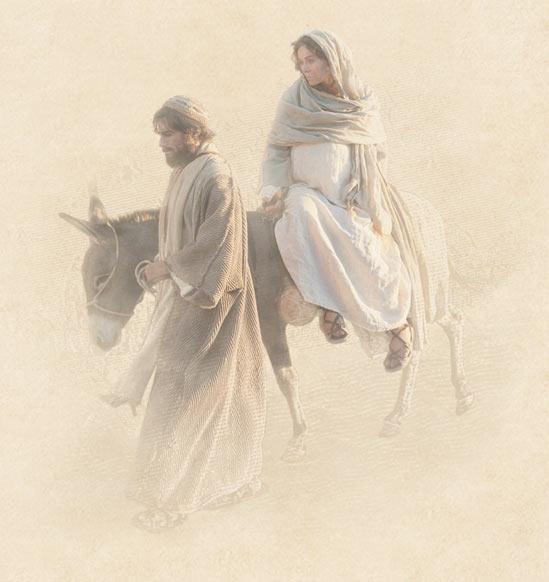 María y José suben hasta Belén - María y José viajan a Belén - Lucas 2