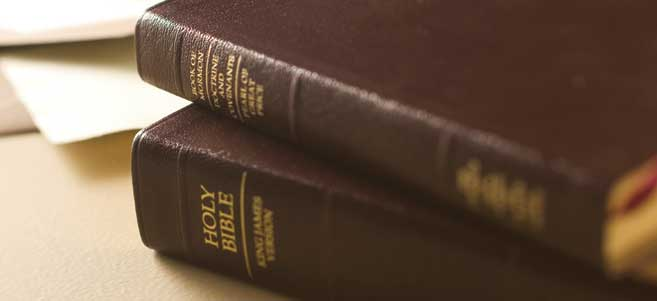 Close up image of the Holy Scriptures
