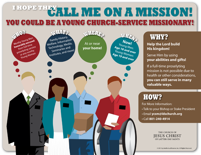 Young Church Service Missionary Infographic