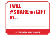 Share the Gift sign