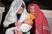 Children acting out the nativity