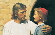 Painting of Jesus and young man