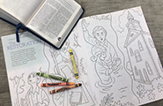Scriptures and coloring page
