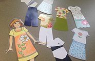 Paper dolls with clothing