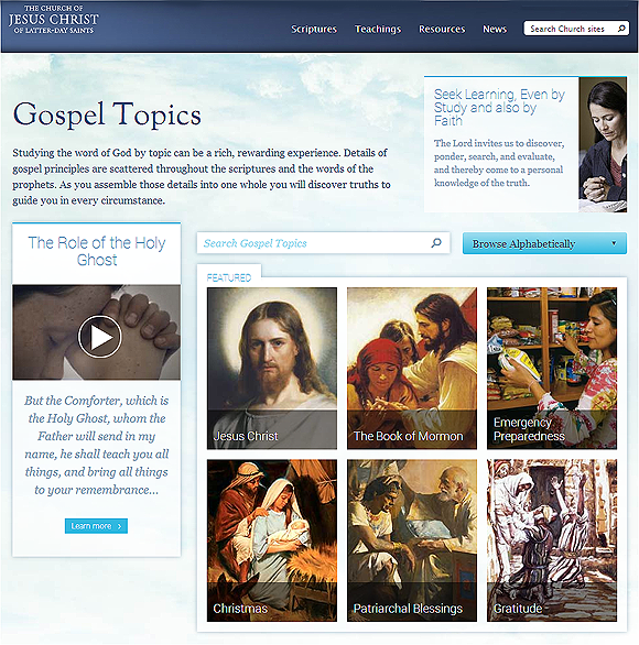 New Gospel Topics Page Encourages Personal and Family Study - Church ...