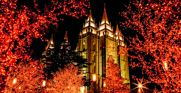 christmas lights on historic temple square in salt lake city utah turn on november 29 2013 the day after thanksgiving - Christmas Lights In Utah
