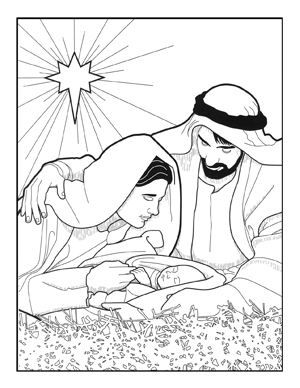 church scene coloring pages - photo#20
