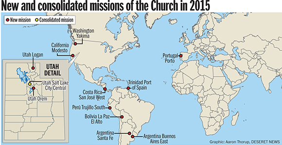 Lds Missions Map Church Forms 11 New Missions as the Work Moves Forward   Church