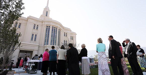 Wonderful Payson Utah Temple Open House Begins