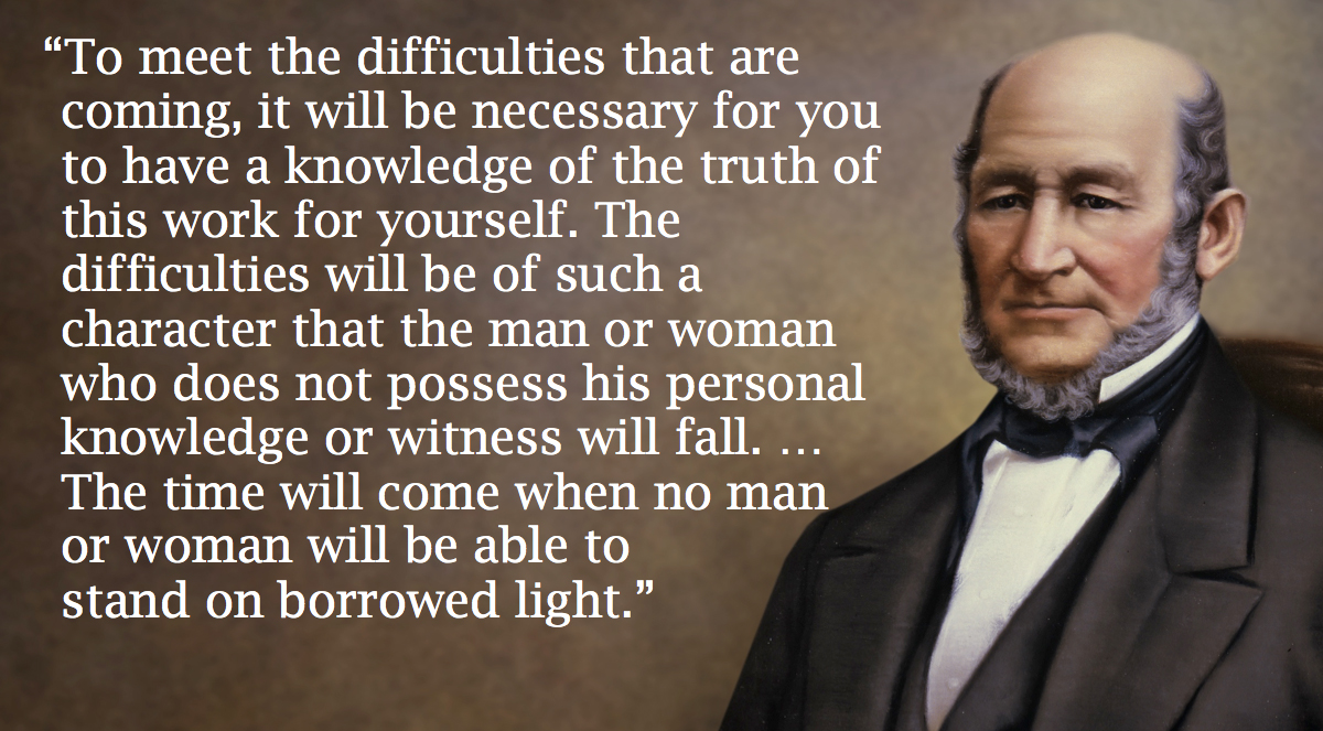 A compensatory spiritual power for the righteous more than ever in the 64 years of my life this prophetic statement by heber c kimball is coming to pass deep continuing conversion is becoming much more kristyandbryce Images