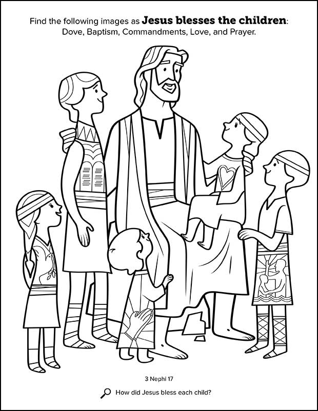 Kids Having Fun with New Book of Mormon Stories Coloring Book ...