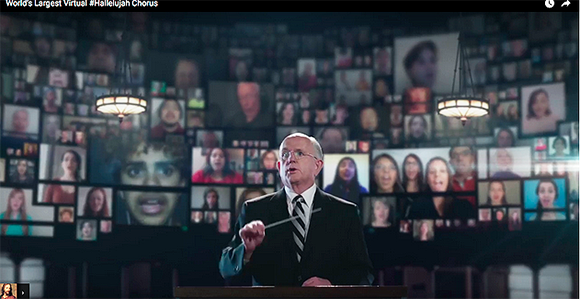 "Virtual Hallelujah Chorus"" Combines Mormon Tabernacle Choir and"
