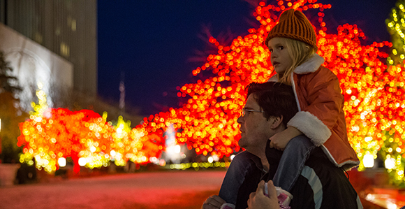 dave whitaker of spanish fork and his daughter michelle 3 tour the christmas lights at temple square in salt lake city on friday november 25 2016 - Spanish Fork Christmas Lights
