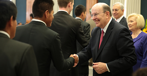 Elder cook counsels young people in bolivia and peru to focus on elder quentin l cook of the quorum of the twelve apostles sister mary cook and elder enrique r falabella a general authority seventy greet m4hsunfo