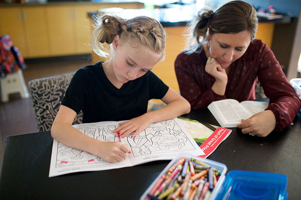set out the scripture stories coloring books and crayons on sundays to encourage children to choose a fun and meaningful sabbath day activity
