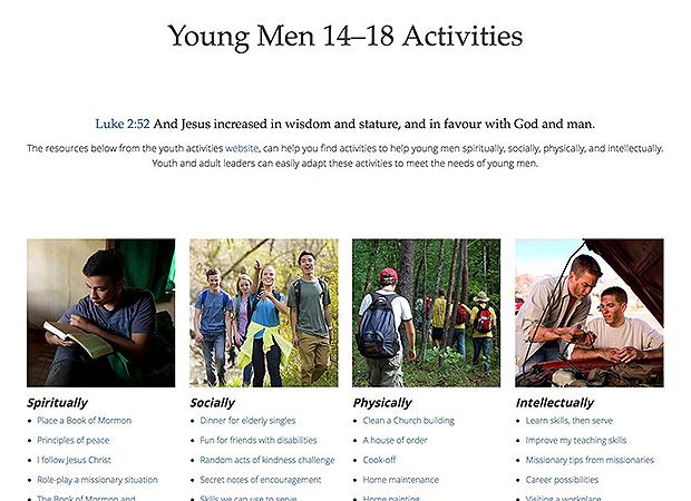 Image result for aaronic priesthood 14-18 activities
