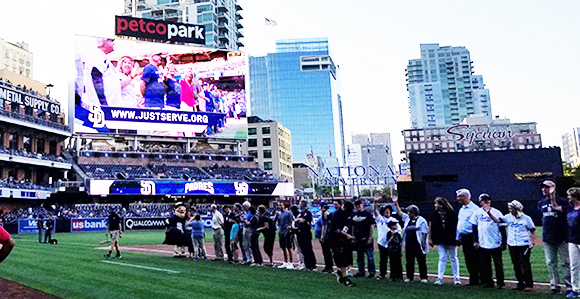 Justserve Partners Celebrated At Padres Game In San Diego S Petco Park Church News And Events