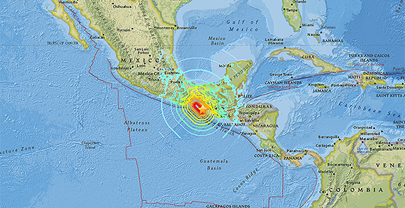 a map from the us geological survey shows the 81 magnitude earthquake that struck mexico september 7 causing death and widespread destruction