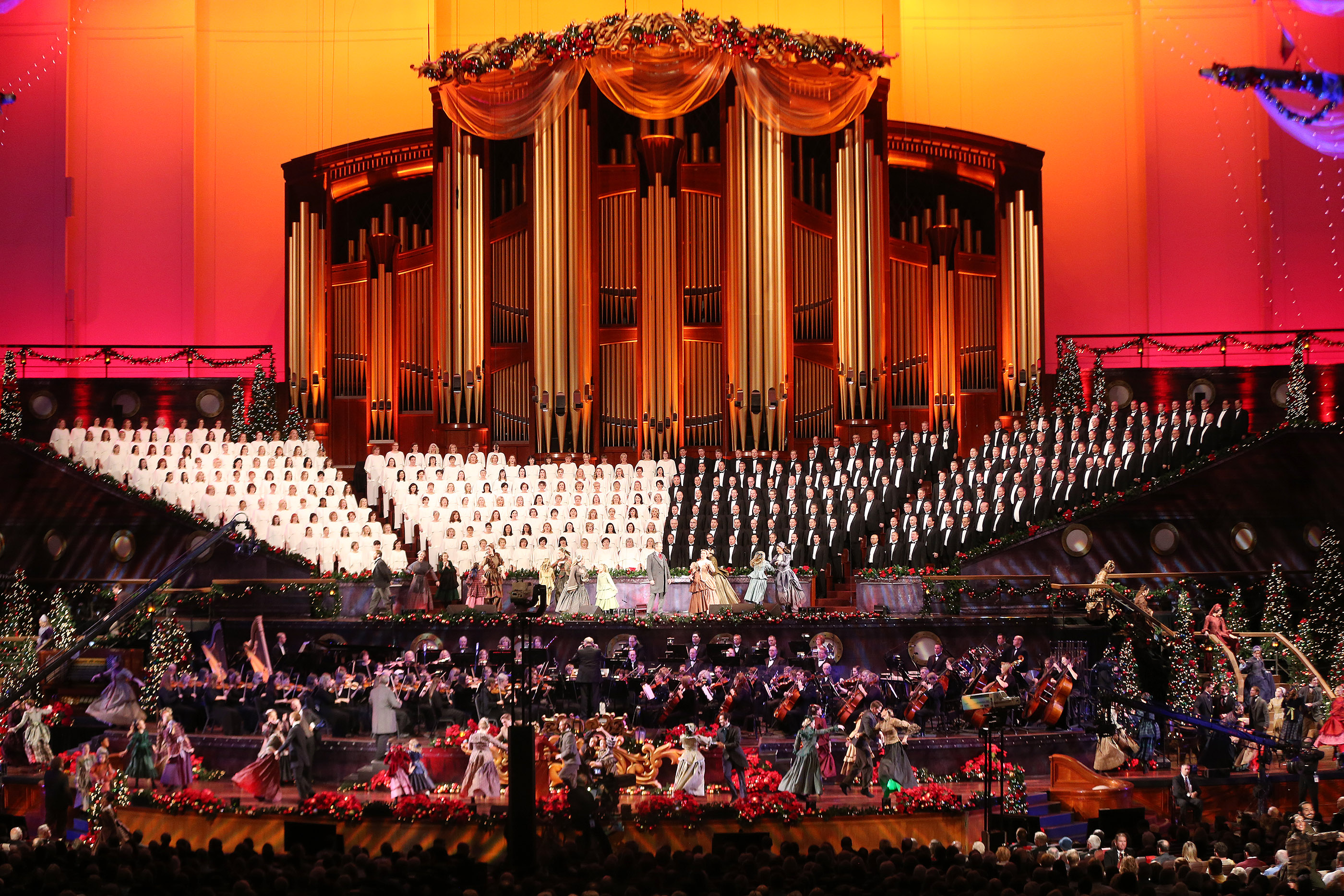 Dancers Perform As The Mormon Tabernacle Choir Sings During Their Christmas Concert In Salt Lake City On Thursday December 14 2017