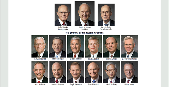New Lds Apostles 2020.View Or Download April 2018 General Authority Chart Church