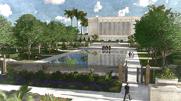 """Refresh"""" of Mesa Temple and Grounds to Include Replacement"""