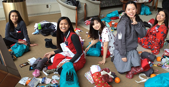 Holiday Service Project Brings Christmas Gifts to Temple Square Missionaries