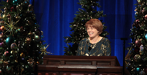 """2020 Vinson Christmas Devotonal Reflect """"Loves Pure Light,"""" Says Sister Sharon Eubank at Christmas"""