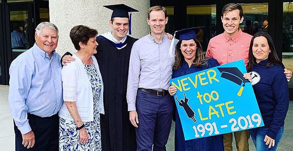 Byu Graduation 2020.Mom Graduates With Son 28 Years After Original Enrollment