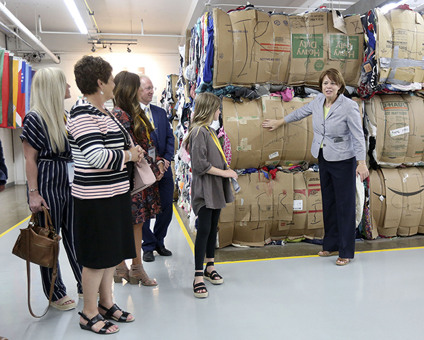 Spouses of American Governors Assemble Hygiene Kits at