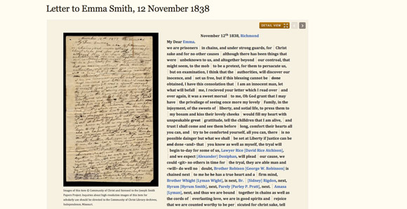 The Joseph Smith Papers Project recently added 12 new documents to its hWM5pfua
