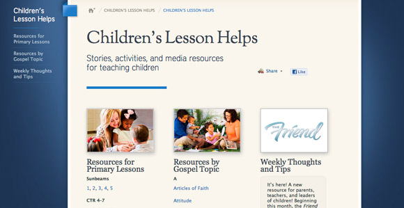 new friend website simplifies primary lesson planning church news