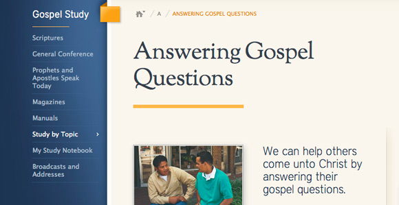 New Resource Helps Members Answer Gospel Questions ...