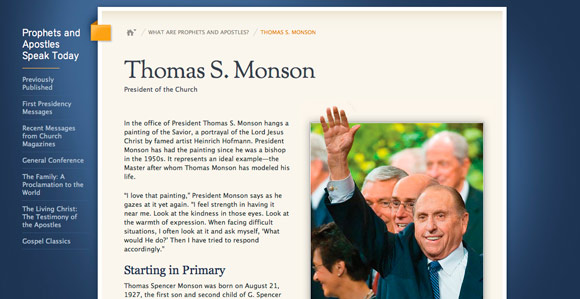 Prophets.LDS.org Features New Biographies of Living Apostles ...