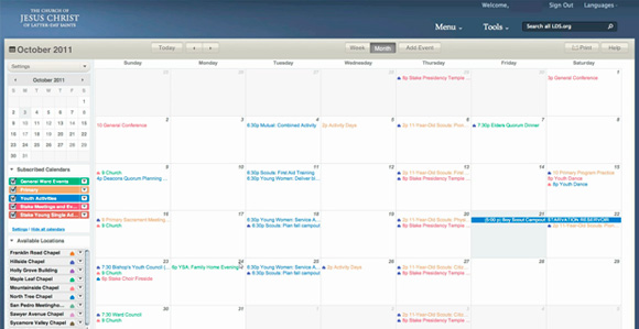 Updates to LDS.org Calendar Improve Usability - Church News and Events