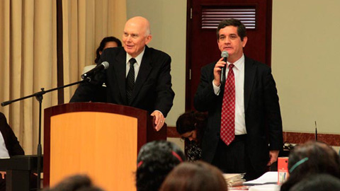 Elder Dallin H. Oaks in Peru
