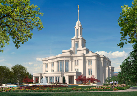 An artist's rendition of the Payson Utah Temple