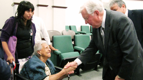 In Mexico Elder Ballard greets members