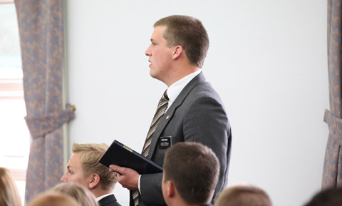 missionary asks Elder Bednar a question