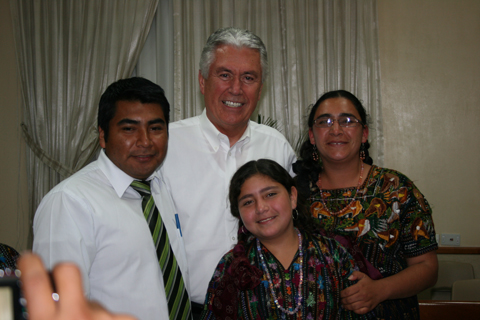 President Uchtdorf with a family