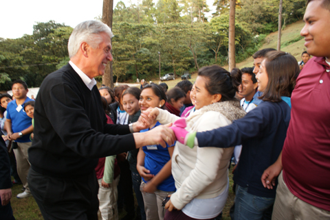 President Uchtdorf at a youth conference in Guatemala