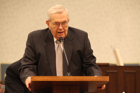 President Packer at the Pulpit