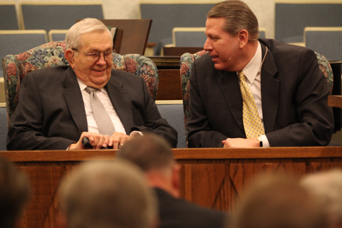 President Packer and Elder Halstrom