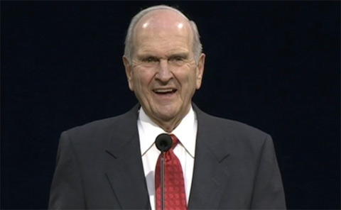 Elder Nelson laughing