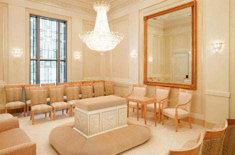 Sealing room in LDS Temple
