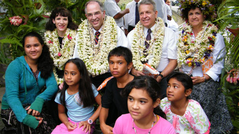 Elder Andersen with Pacific members