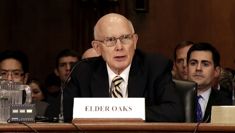Elder Dallin H. Oaks at US Senate