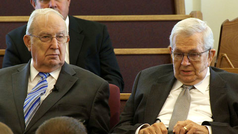 President Packer and Elder Scott