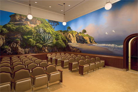 Endowment Room in LDS Temple