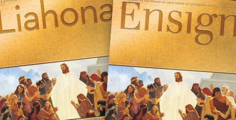 LDS - Mormon magazine covers Liahona and Ensign